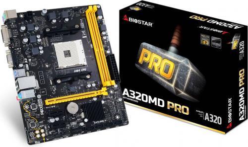 Płyta główna Biostar A320MD Pro, AMD A320, DDR4, SATA3, USB3.1 gen.1, uATX
