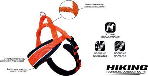 Croci Hiking Uprząż Wzmocniona 38-48cm Pomarańczowy