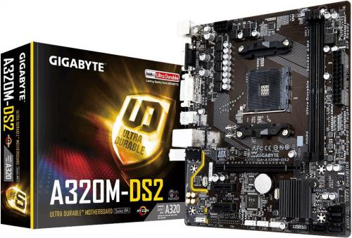 Płyta główna Gigabyte GA-A320M-DS2, A320, DDR4, SATA3, USB3.1 gen.2, uATX