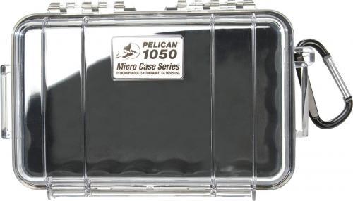 Walizka foto Peli Micro Case 1050  czarny przezroczysty   (10000422)