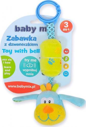 Baby Mix Zabawka podróżna z dzwoneczkiem - piesek (AX0775)