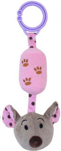 Baby Mix Zabawka podróżna z dzwoneczkiem - myszka różowa (AX0953)
