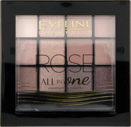 Eveline All in One Eyeshadow Palette Cienie do powiek Rose - paletka 12g