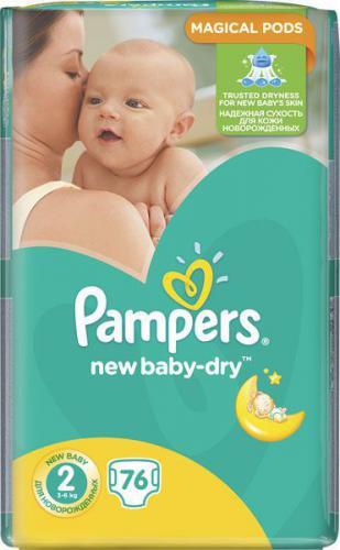 Pampers New Baby-Dry rozmiar 2 (Mini),3x76 pieluszek (3-6 kg)