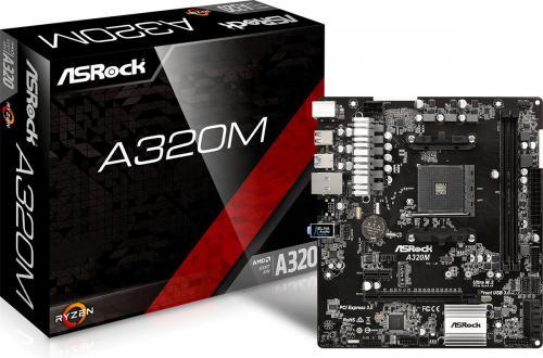 Płyta główna ASRock A320M, A320, SATA3, DDR4, USB3.0, uATX (90-MXB590-A0UAYZ)