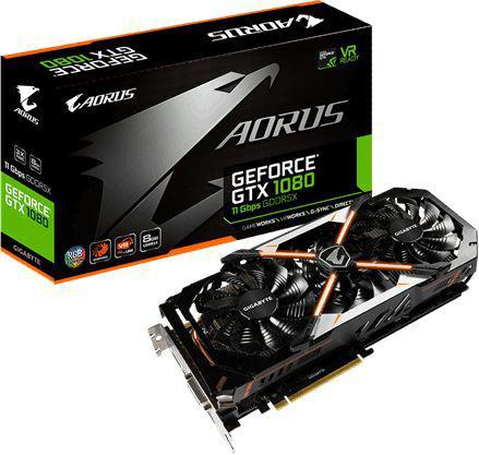 Karta graficzna Gigabyte GeForce GTX 1080 Aorus 8GB GDDR5X (256 Bit) HDMI, DVI-D, 3xDP, BOX (GV-N1080AORUS-8GD)
