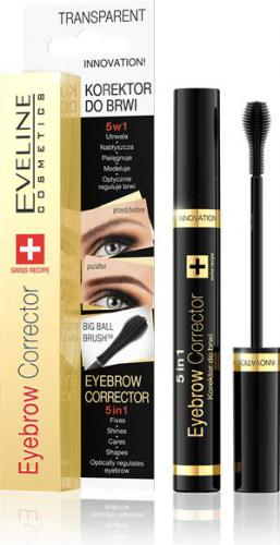 Eveline Eyebrow Corrector Korektor do brwi 5w1 transparent 9ml