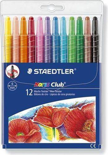 Staedtler Kredki świecowe wykręcane 12 kolorów Twister - WIKR-910108