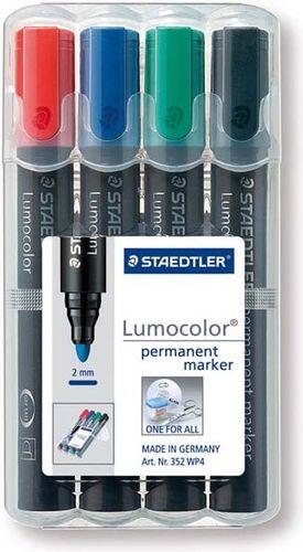 Staedtler Marker permanentny 4 kolory okrągły - WIKR-919763