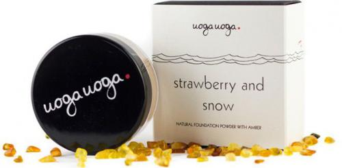 Uoga uoga Naturalny puder mineralny nr 636 Strawberry and Snow 8g