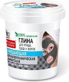 Fitocosmetics Przepisy Ludowe Glinka czarna oczyszczająca do twarzy,ciała i włosów  155ml