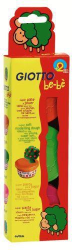 GIOTTO Ciastolina Be-be 3 kolory: różowy, zielony, pomarańczowy - WIKR-999030
