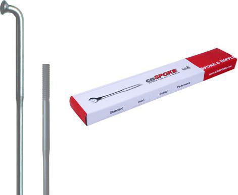 CNSPOKE Szprychy DB454 2.0-1.8-2.0 stal nierdzewna 262mm srebrne + nyple 144szt.