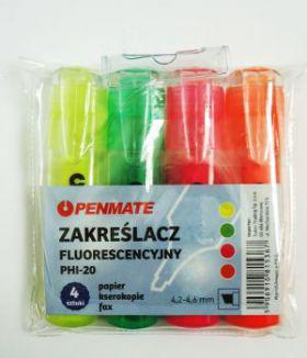 Penmate Zakreślacze fluorescencyjne 4 kolory (WIKR-949368)