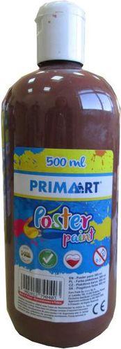 PRIMART Farba plakatowa 500ml brązowa - WIKR-1017591