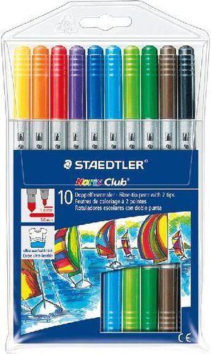 Staedtler Flamastry dwustronne 10 kolorów Noris Club - WIKR-0983554