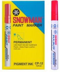 TIERRA Pisak olejowy gruby Snowman czerwony - WIKR-975245