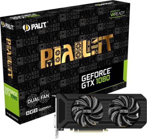 Karta graficzna Palit GeForce GTX 1080 DUAL 8GB GDDR5X (256 Bit) DVI-D, HDMI, 3xDisplayPort, BOX (NEB1080015P2D)