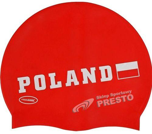 Aqua-Speed Poland Czepek Pływacki czerwony (40715)