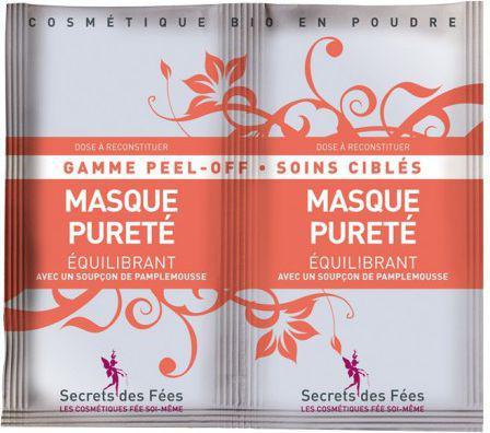 Secrets des Fees Maseczka algowa oczyszczająco-normalizująca 16g