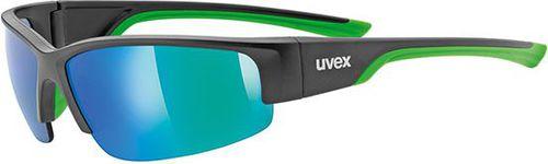 UVEX Okulary Sportstyle 215 kolor czarno-zielony, roz. uniwersalny (53617 - 53617UNI)