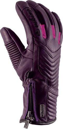 Viking Skórzane rękawice wykończone wełną Jovita fioletowe r. 8 (113/15/4520/45/8)
