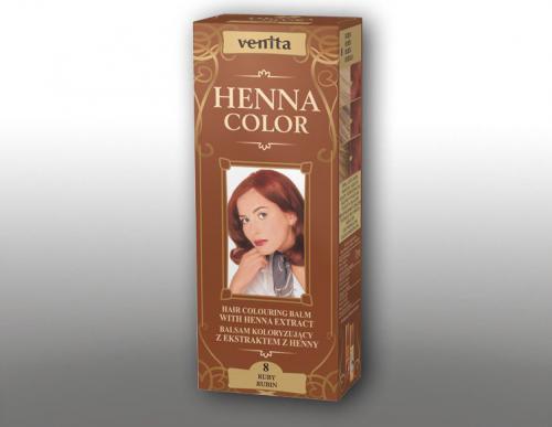 Venita Ziołowe Balsamy Henna Color  8 Rubin 75ml