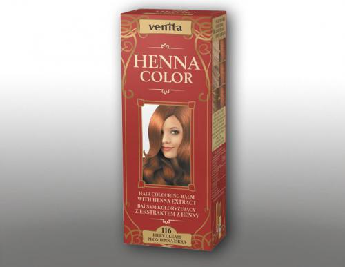 Venita Ziołowe Balsamy Henna Color 116 Płomienna iskra 75ml
