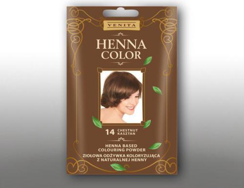 Venita Ziołowa odżywka koloryzująca Henna Color 30g  14 kasztan