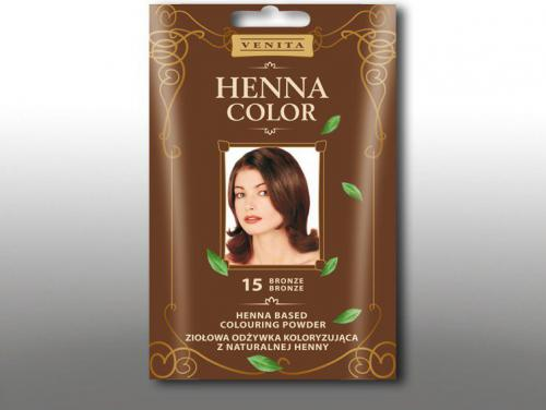 Venita Ziołowa odżywka koloryzująca Henna Color 30g 15 bronze