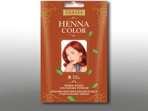 Venita Ziołowa odżywka koloryzująca Henna Color 30g 8 rubin