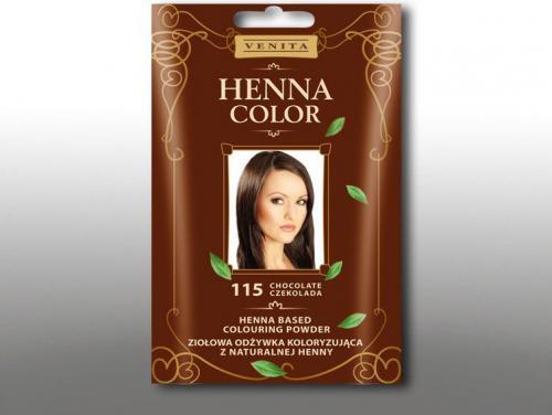 Venita Ziołowa odżywka koloryzująca Henna Color 30g 115 czekolada