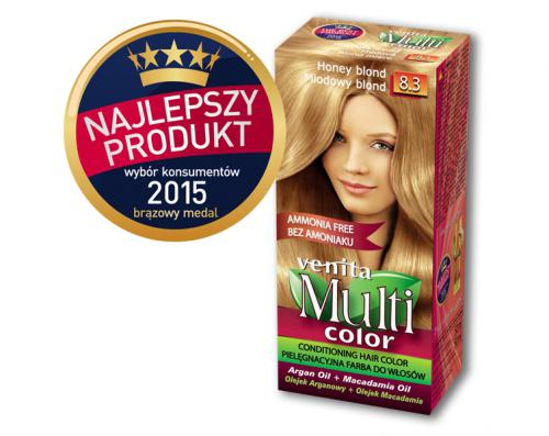 Venita Farba bez amoniaku Multi Color 8.3 miodowy blond