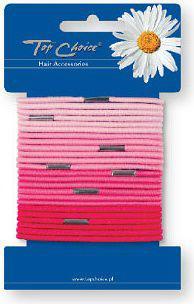 Top Choice Gumki do włosów 24szt róż (21053)