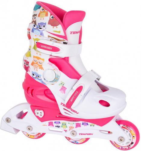 TEMPISH Rolki regulowane Tempish Baby Skate '17 biało-różowe r. 34-37 (1000000006-OWLM)