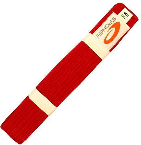 Spokey Pas do kimona UNSU czerwony 240cm (85105)