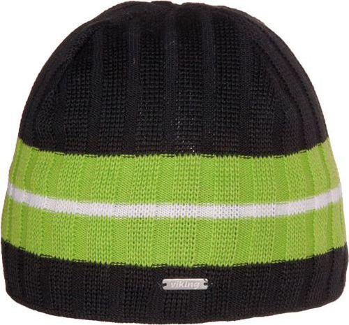 Viking Czapka Windstopper 1417 czarno-zielona (2151417UNI)