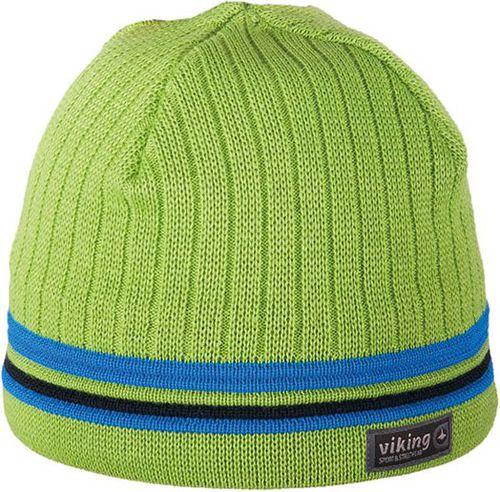 Viking Czapka męska Windstopper® 8627 zielono - niebieska (215/11/8627)