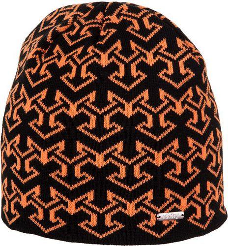 Viking Czapka męska Holman czarno-pomarańczowa (2100055UNI)