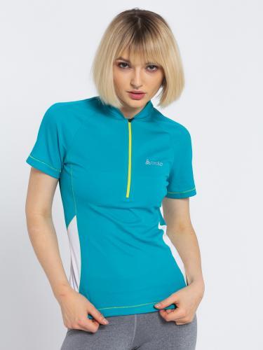 Odlo Koszulka damska Stand-up collar Fluid niebieska r. S ( 410651)