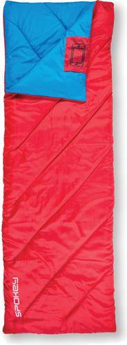 Spokey Śpiwór Muff II Spokey czerwono-niebieski roz. Prawy (920343)