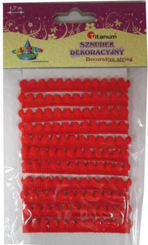 Titanum Sznurek dekoracyjny czerwony. 339362. - WIKR-1020043