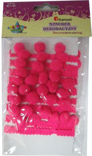 Titanum Sznurek dekoracyjny różowy. 339366. - WIKR-1020057