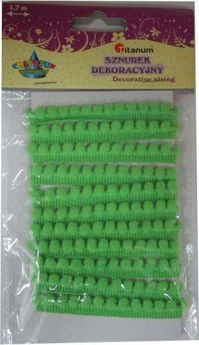 Titanum Sznurek dekoracyjny zielony. 339363. - WIKR-1019974