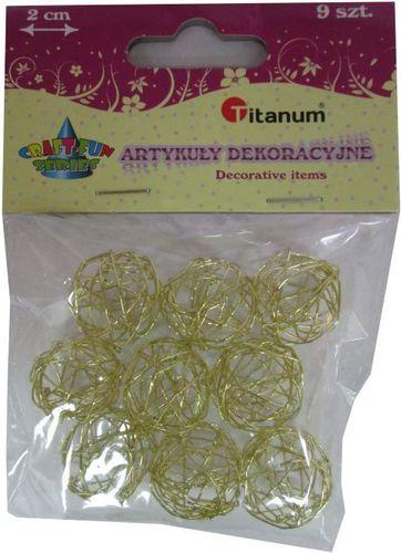 Titanum Kulka druciana złota. 339375. - WIKR-1019908