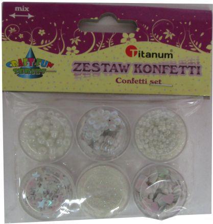 Titanum Zestaw dekoracyjny konfetti. 6 wzorów. 339367. - WIKR-1019914