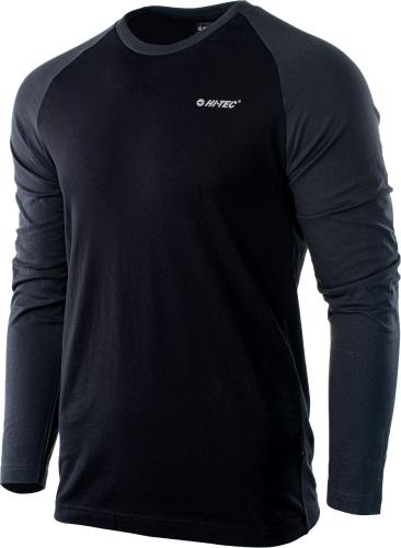 Hi-tec Bluza męska Puro LS Black/Dark Grey r. S