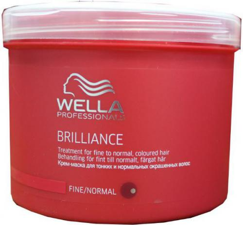 Wella BRILLIANCE Maska do Cienkich Włosów Farbowanych (fine) - 500ml