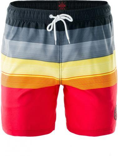 AquaWave Szorty męskie Shadow Black/Gray/Yellow/Red Stripes r. XXL