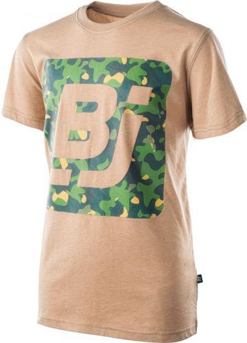 BEJO Koszulka dziecięca Logo BJ beżowa r. 152
